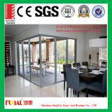 Porte en aluminium de qualité avec la double glace Tempered