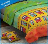 子供の寝具の城の友人の綿の羽毛布団カバーセット