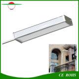 Indicatore luminoso di via flessibile solare esterno solare di alta luminosità della lampada della lega di alluminio dell'indicatore luminoso 48LED del giardino del sensore di radar degli indicatori luminosi IP65