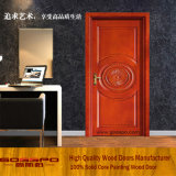 Деревянная одиночная дверь с цветком конструирует (GSP2-022)
