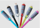 2 in 1 Mutil-Funktion einziehbarem Mikro für iPhone und androides USB-Daten-Kabel