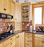 Armadi da cucina di legno su ordine di Soild di prezzi di fabbrica