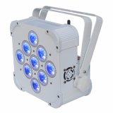 LED DMX sem fio LED Flat PAR 9 X 15W RGBWA 5in1 Mistura de cores não impermeável IP20 sem bateria