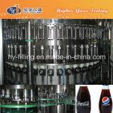 Ligne remplissante de kola de bouteille en verre