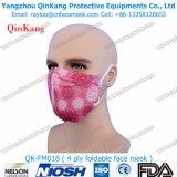 Masque protecteur non-tissé remplaçable pliable estampé de l'Anti-Brume Ffp2 Ffp3