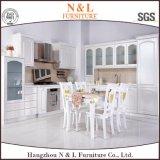 Gabinete de cozinha de madeira do PVC da mobília de madeira moderna do estilo