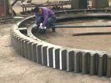 Engranaje de la circunferencia de la fuente para el horno para el equipo de la industria de la mina