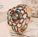 Дешевые кристаллический wristwatches Bangle кварца сплава геля студня