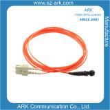 milímetro 62.5/125 de Dx de fibra de cuerda de corrección óptica los 3m