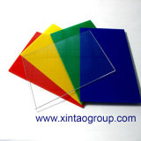 Perspex acrílico desobstruído expulso colorido/folha acrílica curvada da folha PMMA