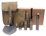 Freier Soldat-bearbeitet im Freien kampierender magische Form-Stahlschaufel-faltender Schaufel-Lifesaving Multifunktionshammer Überlebens-Schaufel