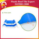 Anti feuilles élevées corrosives de toiture de l'onde UPVC de protection de l'environnement/tuiles de toit