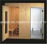 Миниым Sauna твердой древесины совмещенный паром с подгонянным размером (AT-8606)