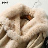 Leather de Madame neuve et fourrure de Fox de vêtement de fourrure