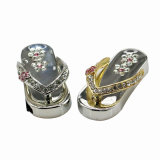 Real Capacidade Crystal Diamond Metal Slippers USB Flash Drive USB2.0