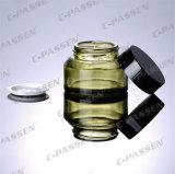 Choc neuf de crème en verre vert d'arrivée pour l'empaquetage de produit de beauté (PPC-GJ-008)