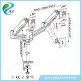 Pouces réglable de hauteur de Jeo 15 '' - 27 '' 360 degrés tournant la canalisation verticale chaude de moniteur de bride de bureau du prix usine de vente Ys-Ga24u