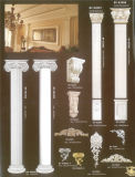 Coluna de mármore luxuosa da coluna de mármore do plutônio para a decoração Home