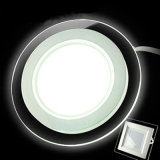 Indicatore luminoso di comitato di vetro del tondo LED di Dimmable 6W