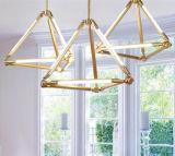 Lampade d'attaccatura del metallo LED di vetro decorativo moderno della lampada Pendant per il salone