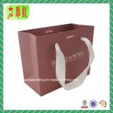 Custome Impreso Bolsa de papel de papel de arte con la manija de la cinta