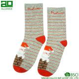 Santa Claus Stripes симпатичные носки оптовой продажи хлопка