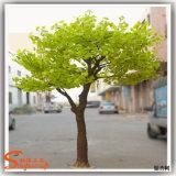 Abbellimento dell'albero giallo artificiale del fiore delle piante