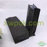 Flache Unterseiten-schwarze Packpapier-Kaffee-Mattbeutel mit Ventil