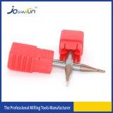 Máquina herramienta CNC sólida de la nariz de la bola de las flautas del micr3ofono 2 del carburo