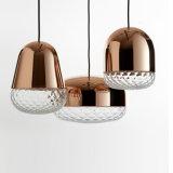O vidro decora o candelabro moderno leve interno para a lâmpada do pendente da barra