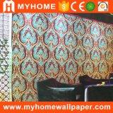 Papel de parede decorativo do PVC da parede interior para KTV/hotel