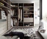 Caminhada de madeira da laca moderna nos Wardrobes para quartos
