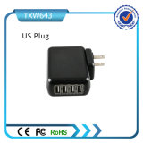 carregador Home europeu do plugue das portas do USB de 5V 4.2A 4