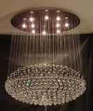 La lámpara cristalina redonda del techo de la sala de estar con el Ce, UL aprobó