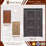 アルミニウム慰め部屋のドアデザインまたは二重振動ガラスドアまたは寝室のドアデザインインド