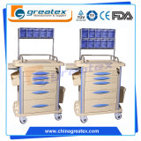 Ce FDA ABS Anesthesia Cart Venta al por mayor Medicamentos para el Hospital Drug Trolley