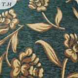 緑の布の金ジャカードシュニールの高級なファブリック(FTH31225)