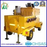 Acoplado diesel de desecación de la bomba del rotor del agua de la elevación de la basura