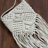 La paja tejida mano empaqueta el bolso de señora Beach Flap Fashion Tassel de la mujer