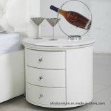 現代寝室の家具白く狭い木製のNightstandのベッドサイド・テーブルホームのための白いカラーベッドサイド・テーブルを使用して