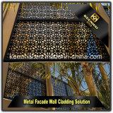El polvo de la decoración del jardín del chalet cubrió los paneles de aluminio de la cerca del jardín del metal del corte del laser