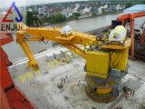 Gru in mare aperto della piattaforma della gru montata flangia idraulica elettrica marina della gru della piattaforma della nave