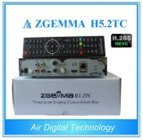 Multistream HDTV Box Zgemma H5.2tc de doble núcleo Linux OS DVB-S2 + 2 * DVB-T2 / C sintonizadores duales con HEVC / H. 265 Decodificación