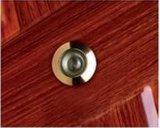 Puerta de la seguridad del metal con los bloqueos y la maneta de puerta