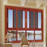 Handelsaluminiumrahmen-einzelner glasig-glänzender Glasfenster-Preis mit Moskito-Netz