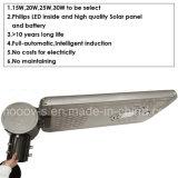 luz de calle solar de 20W LED con la inducción infrarroja