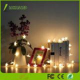 다채로운 훈장 건전지 태양 별 LED 끈 빛 크리스마스 불빛