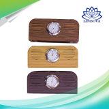 10W優雅な木製のレトロデザイン水晶時計が付いている小型Bluetoothのスピーカー