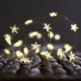 Forma blanca caliente de la estrella Micro luz tenue luz de hadas