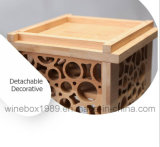 Eco Friendly Dekorative geschnitzte Rechteck Carbonized Bamboo Wine Box
